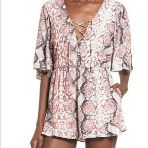 Lovers And Friends Snakeskin Romper
